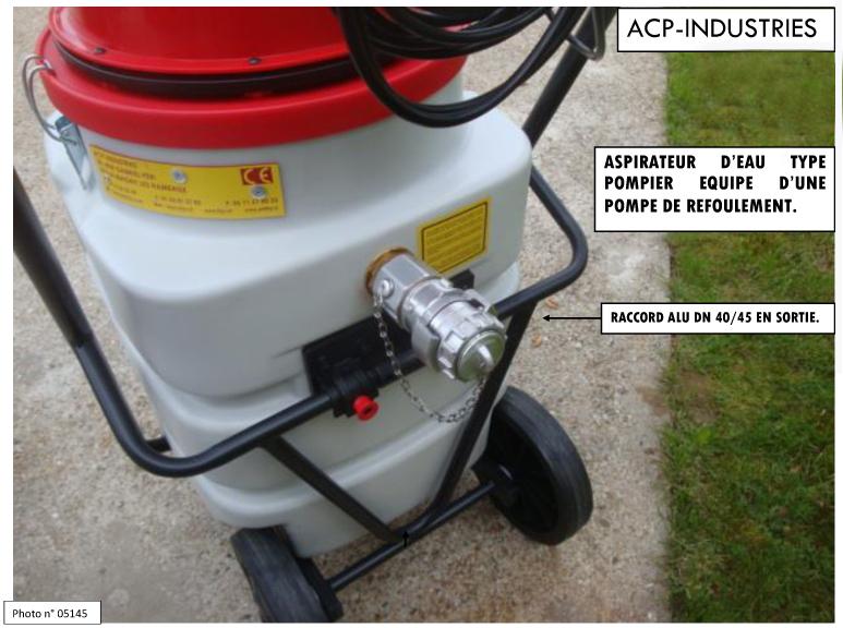 Materiels ponpier - Aspirateur a eau avec pompe de refoulement ...
